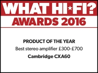 What Hi-Fi? Awards 2016 winner: Cambridge Audio CXA60 amplifier
