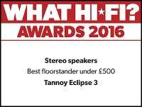 What Hi-Fi? Awards 2016 winner: Tannoy Eclipse Three speakers
