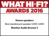 What Hi-Fi? Awards 2016 winner: Monitor Audio Bronze 2 speakers
