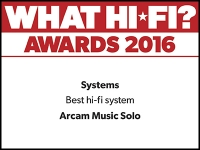 What Hi-Fi? Awards 2016 winner: Arcam Solo Music system