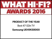 What Hi-Fi? Awards 2016 winner: Samsung UE49KS8000 TV