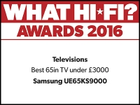 What Hi-Fi? Awards 2016 winner: Samsung UE65KS9000 TV